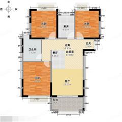 北城名郡 出售3室2厅1卫 110.2平 260万