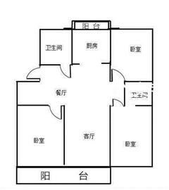 星润花园 出租1室2厅1卫 75.21平 2400元/每月