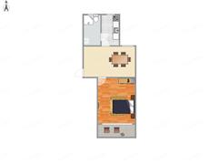 新桥北村 出售1室1厅1卫 45平 75万