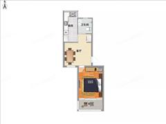 紫东花苑 出租2室1厅1卫 56平 1500元/每月