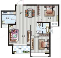 柳湾惠园 出售2室2厅1卫 88平 72万
