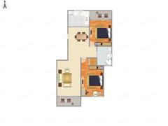 瑞景广场 出售2室2厅1卫 109平 320万