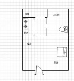 兴业金色家园 出售1室1厅1卫 47.77平 100万