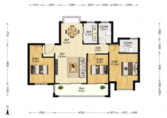 佳期漫 出售3室2厅2卫 110平 285万