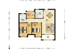 中海双湾花园 出售3室1厅1卫 87.6平 205万